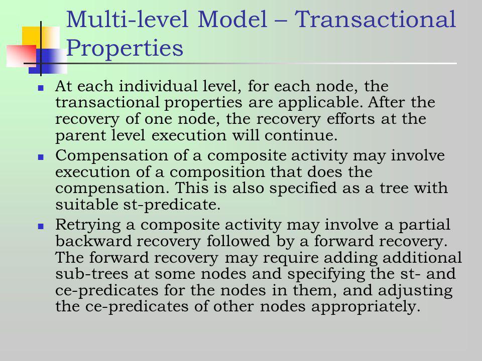 Multi-level Model – Transactional Properties