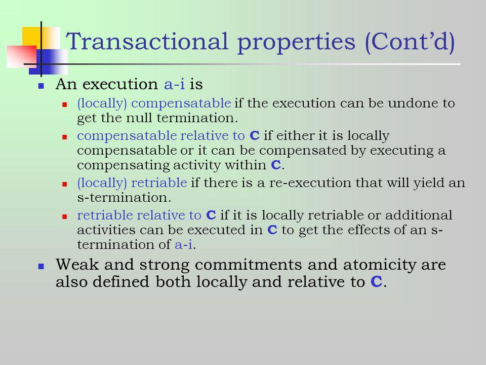 Transactional properties (Cont'd)