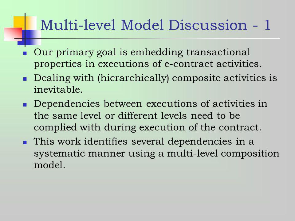 Multi-level Model Discussion - 1