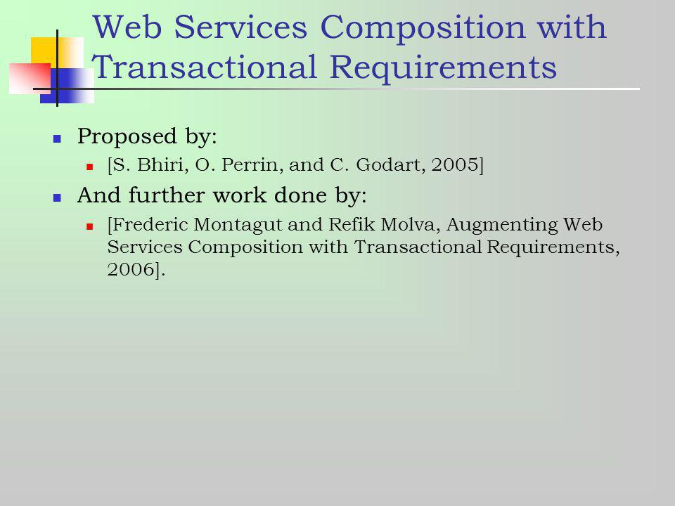 Web Services Composition with Transactional Requirements