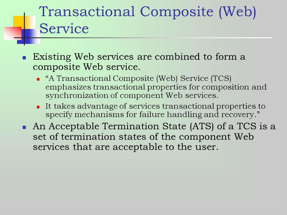 Transactional Composite (Web) Service