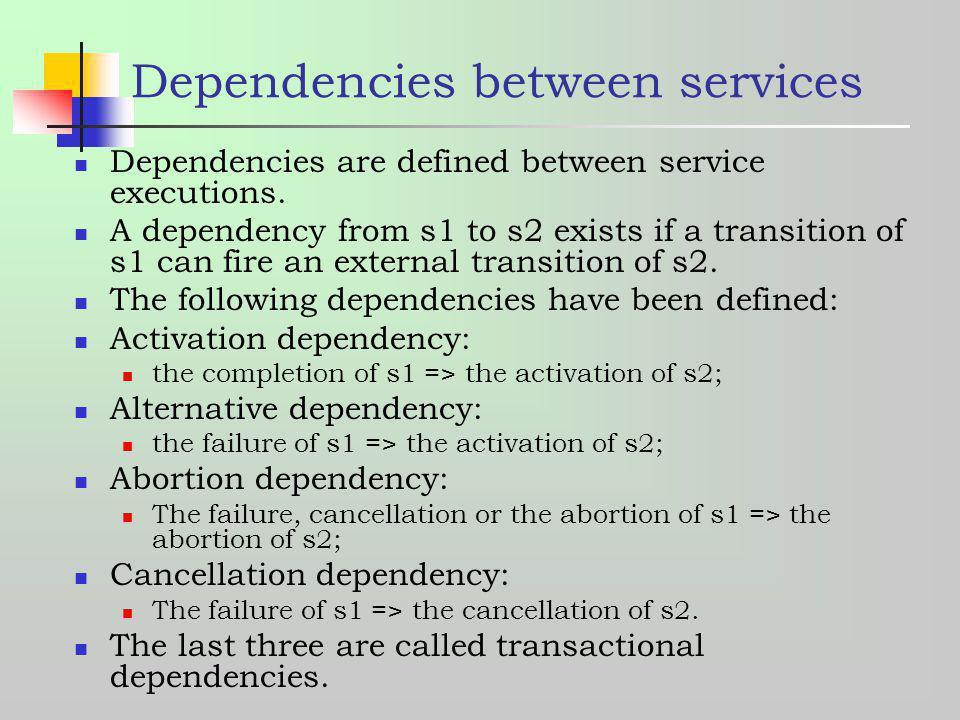 Dependencies between services