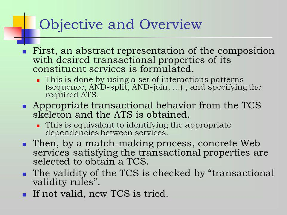 Objective and Overview