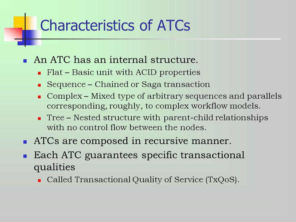 Characteristics of ATCs