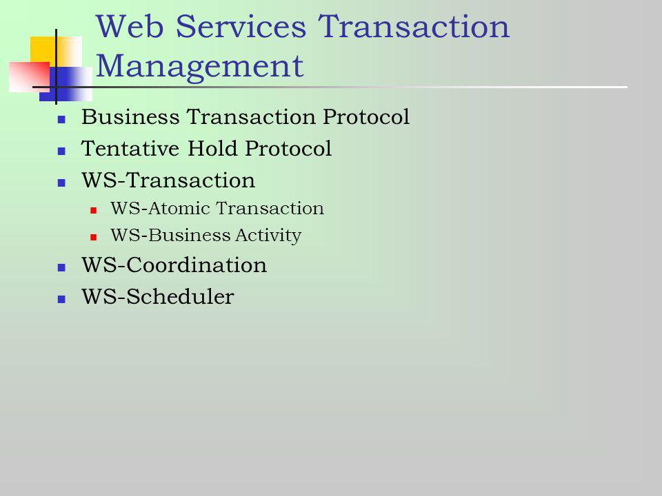 Web Services Transaction Management