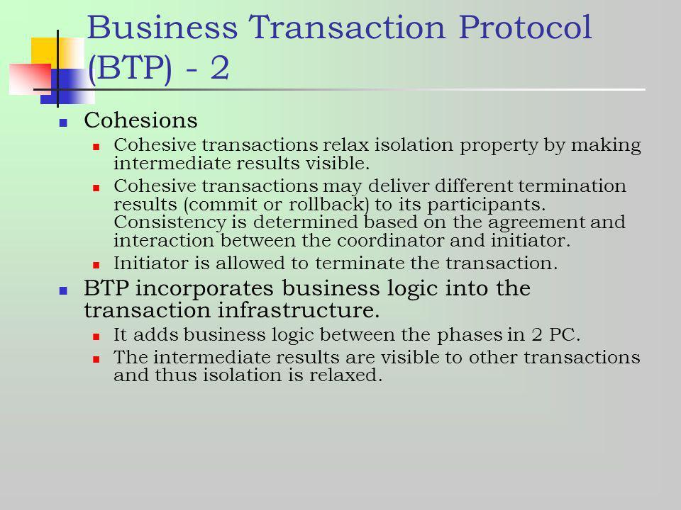 Business Transaction Protocol (BTP) - 2