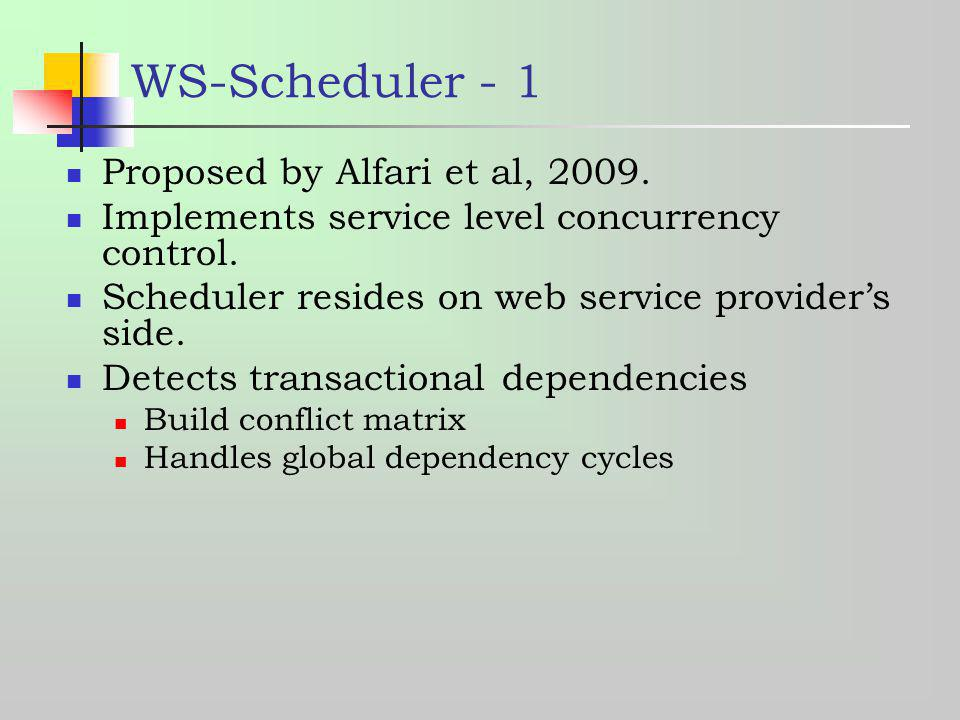 WS-Scheduler - 1 Proposed by Alfari et al, 2009.
