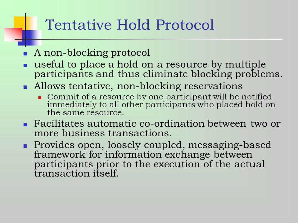 Tentative Hold Protocol