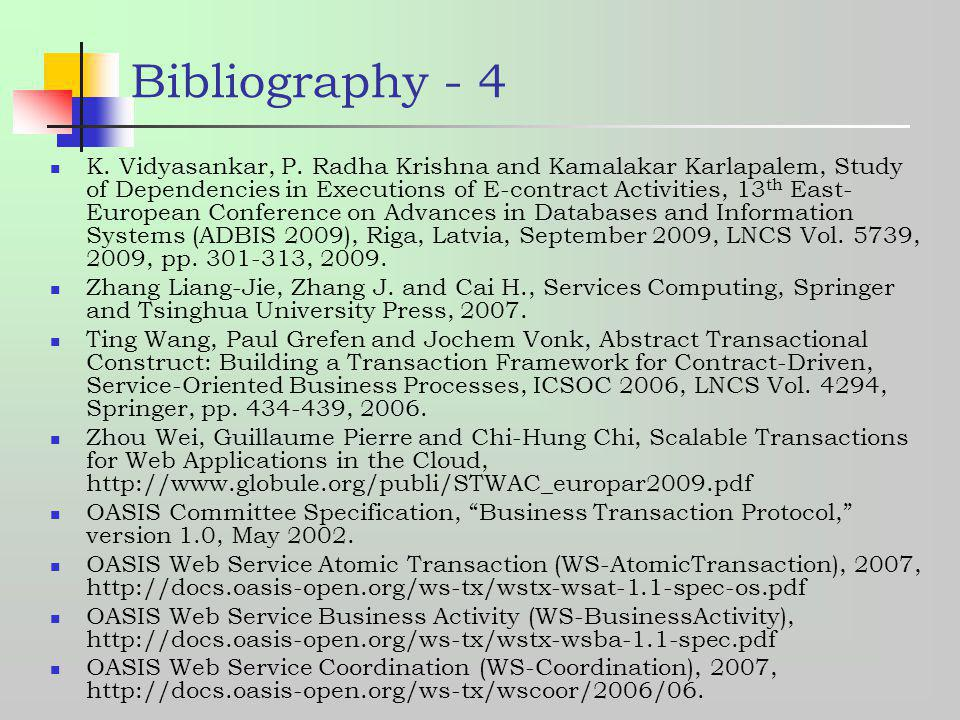 Bibliography - 4