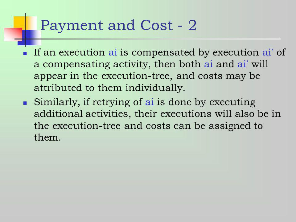Payment and Cost - 2