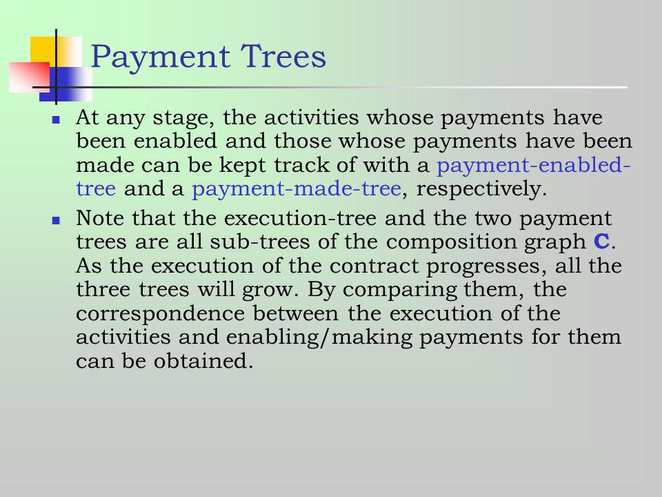 Payment Trees
