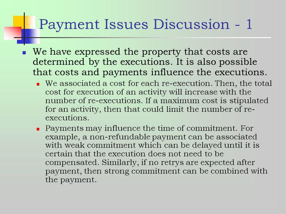 Payment Issues Discussion - 1
