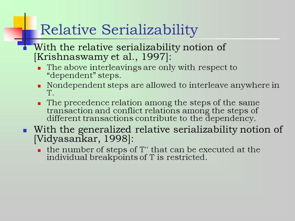 Relative Serializability