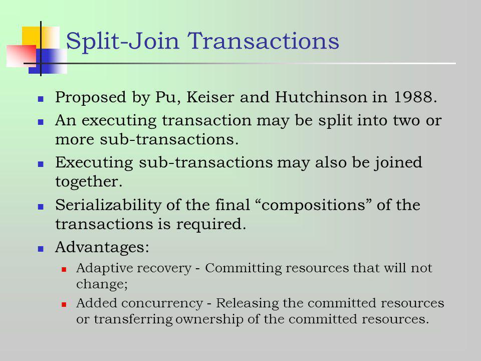 Split-Join Transactions