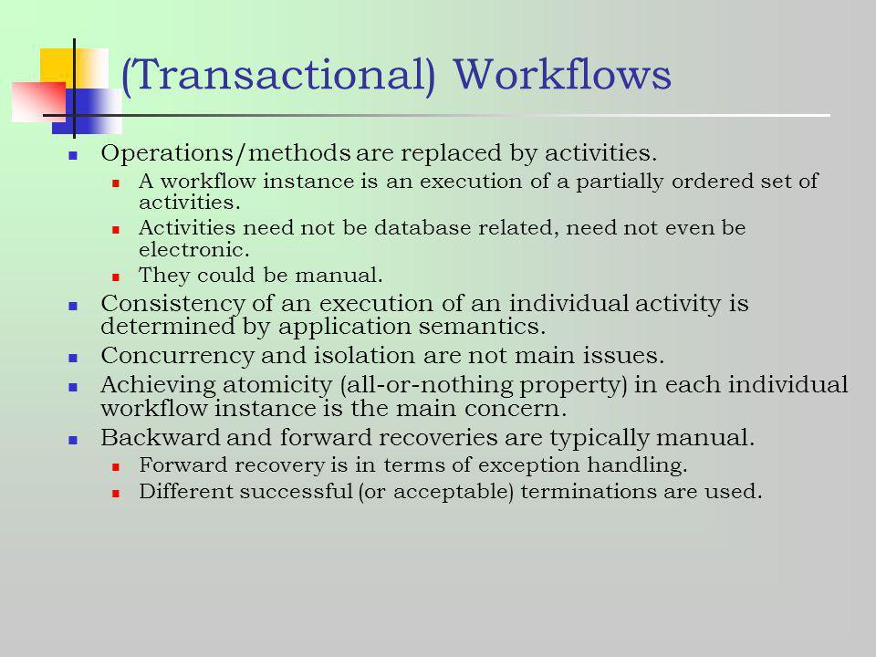 (Transactional) Workflows