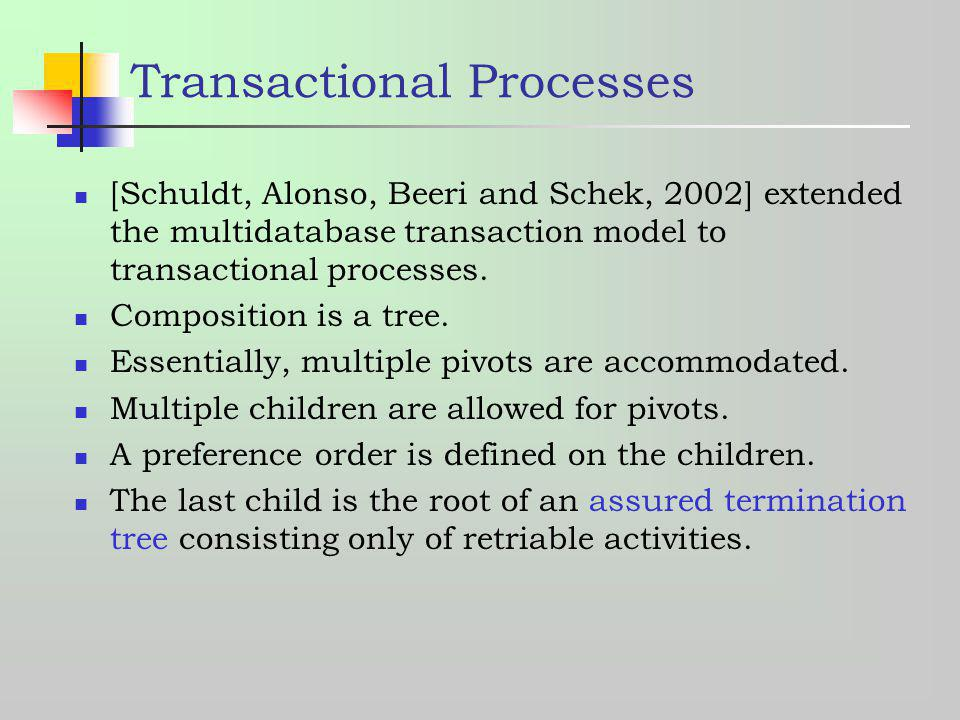 Transactional Processes