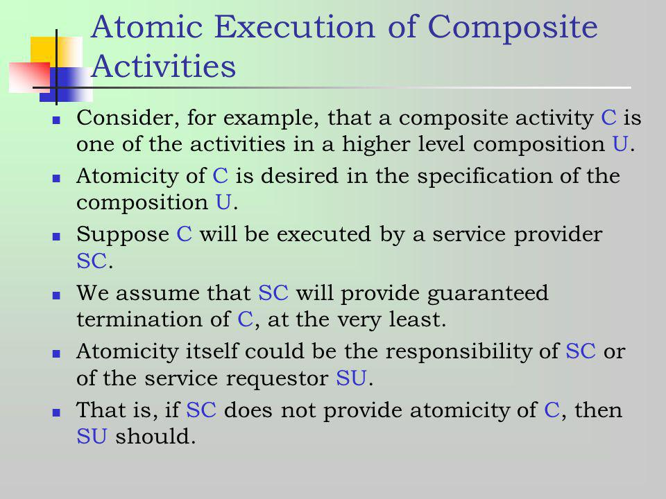 Atomic Execution of Composite Activities