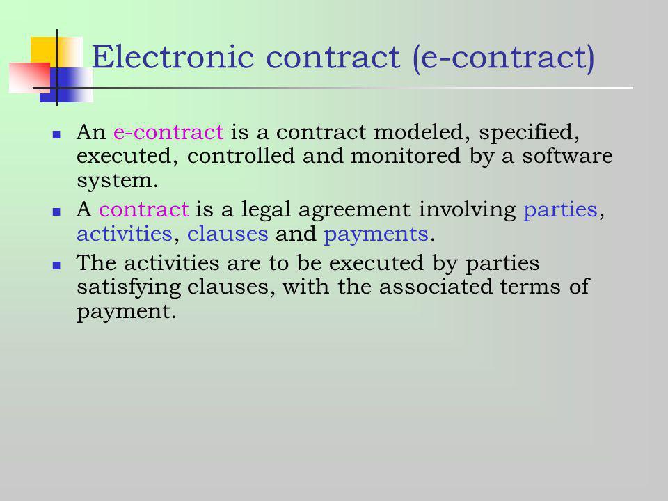Electronic contract (e-contract)