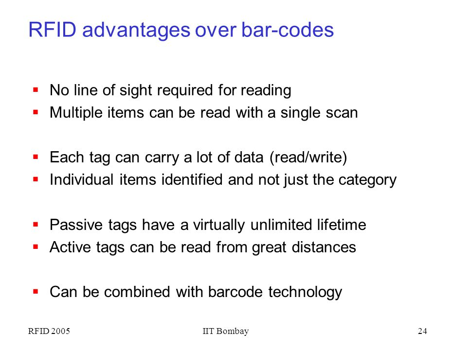 RFID advantages over bar-codes