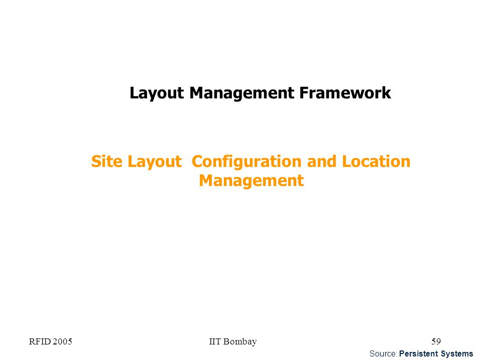 Site Layout Configuration and Location Management