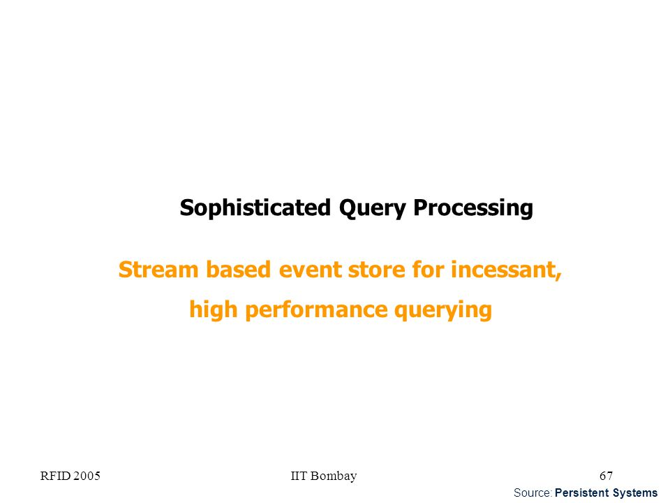 Stream based event store for incessant, high performance querying