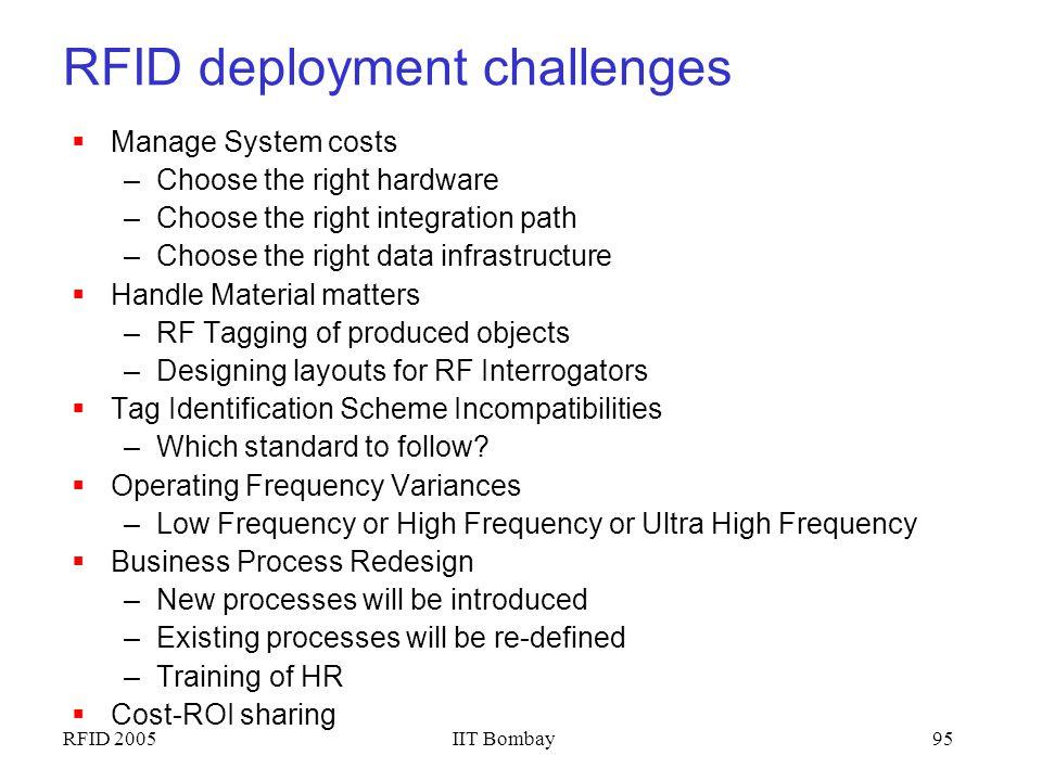 RFID deployment challenges