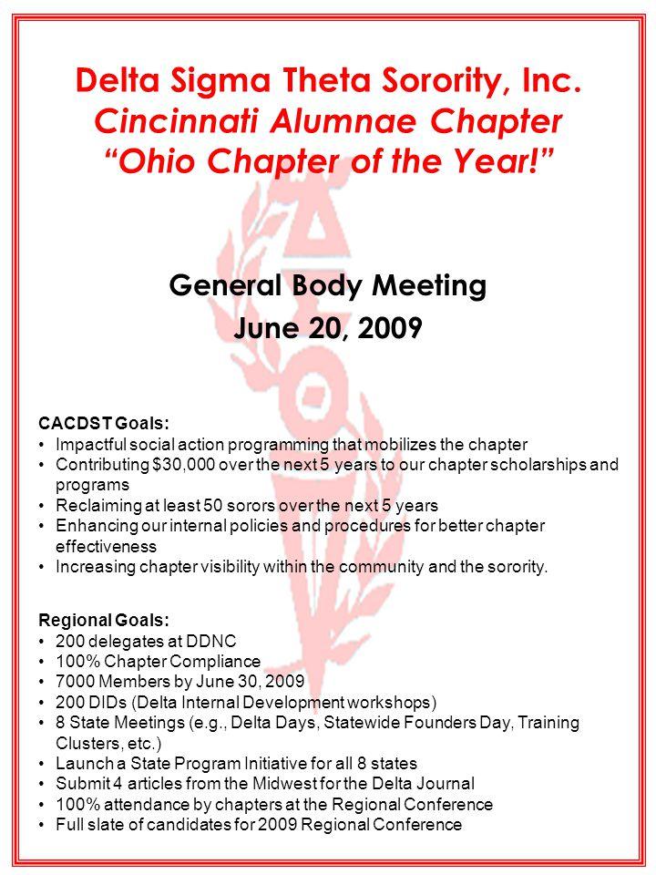 General Body Meeting June 20, 2009