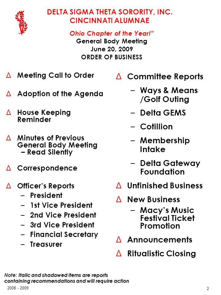 Ways & Means /Golf Outing Delta GEMS Cotillion Membership Intake