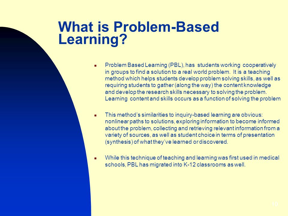 What is Problem-Based Learning