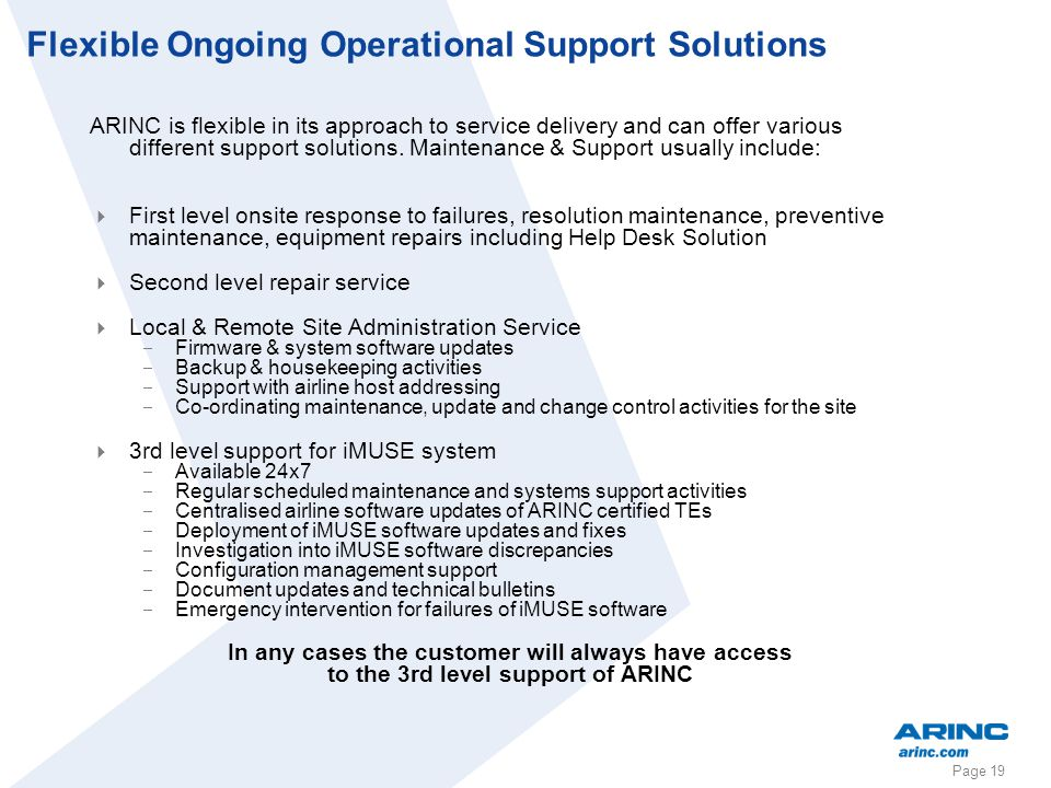 Flexible Ongoing Operational Support Solutions