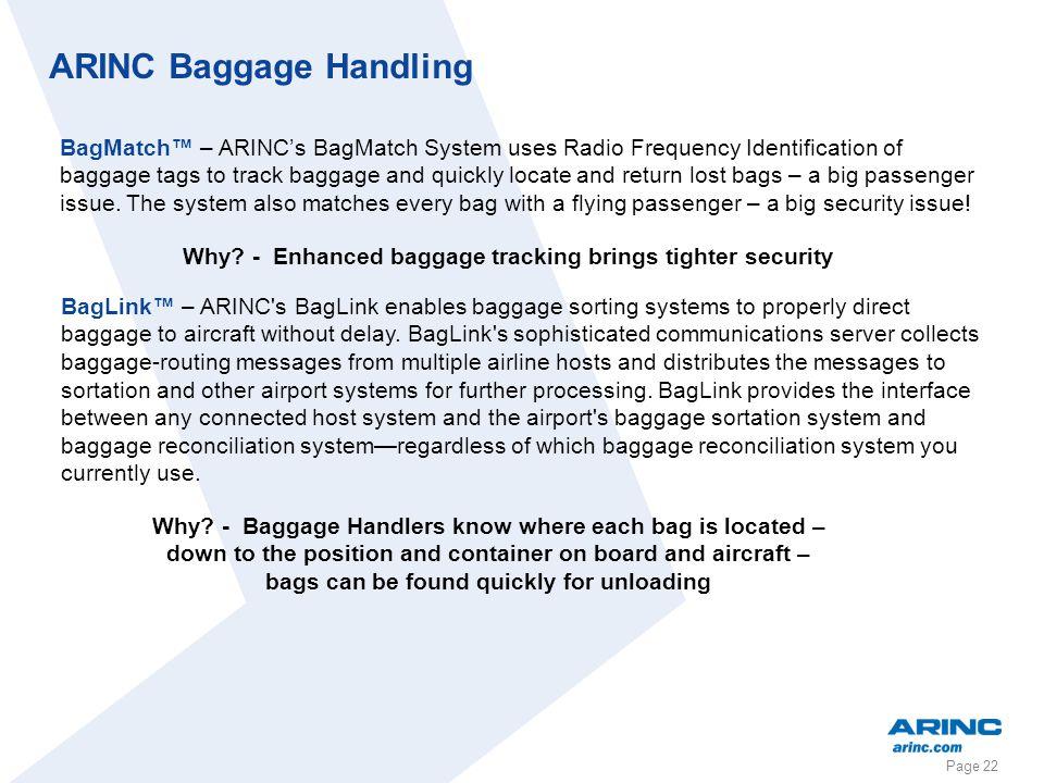 ARINC Baggage Handling