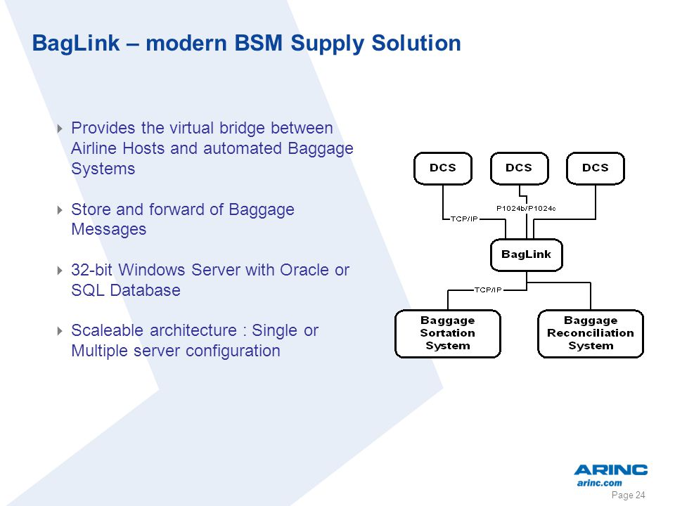 BagLink – modern BSM Supply Solution