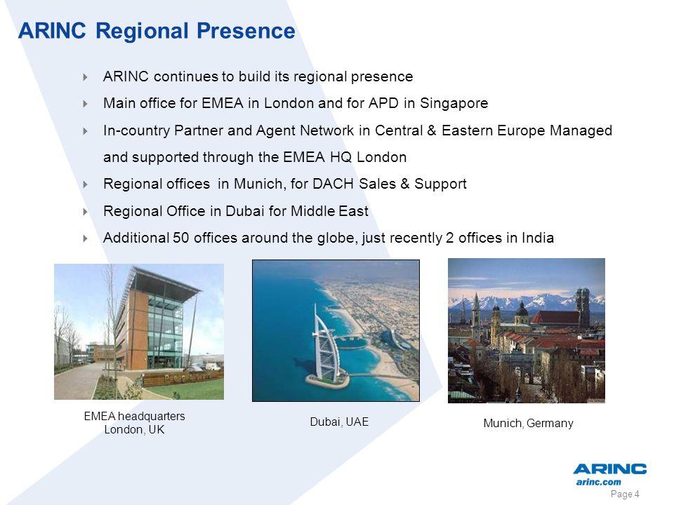 ARINC Regional Presence