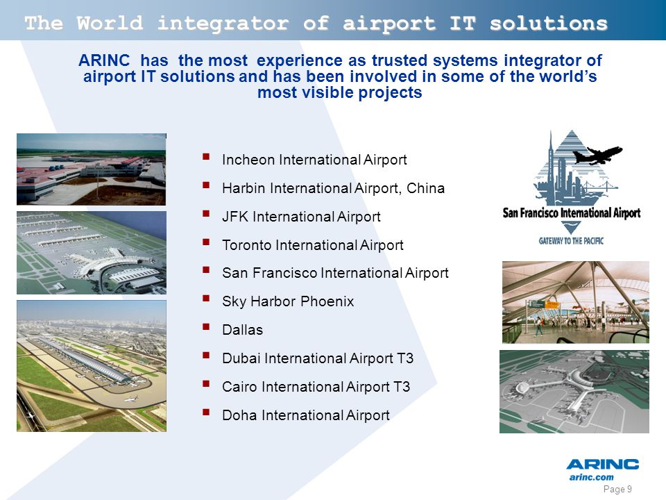 The World integrator of airport IT solutions