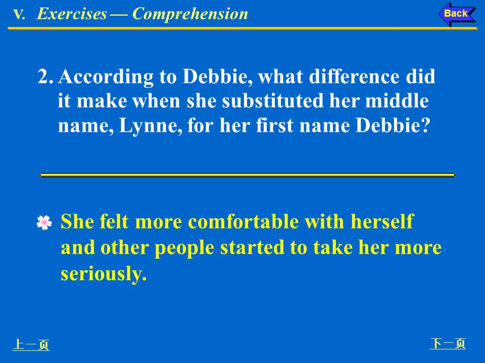 V. Exercises — Comprehension
