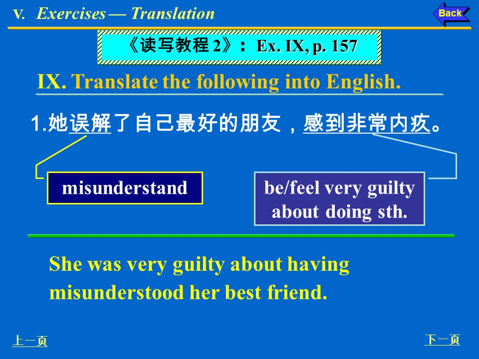 be/feel very guilty about doing sth.