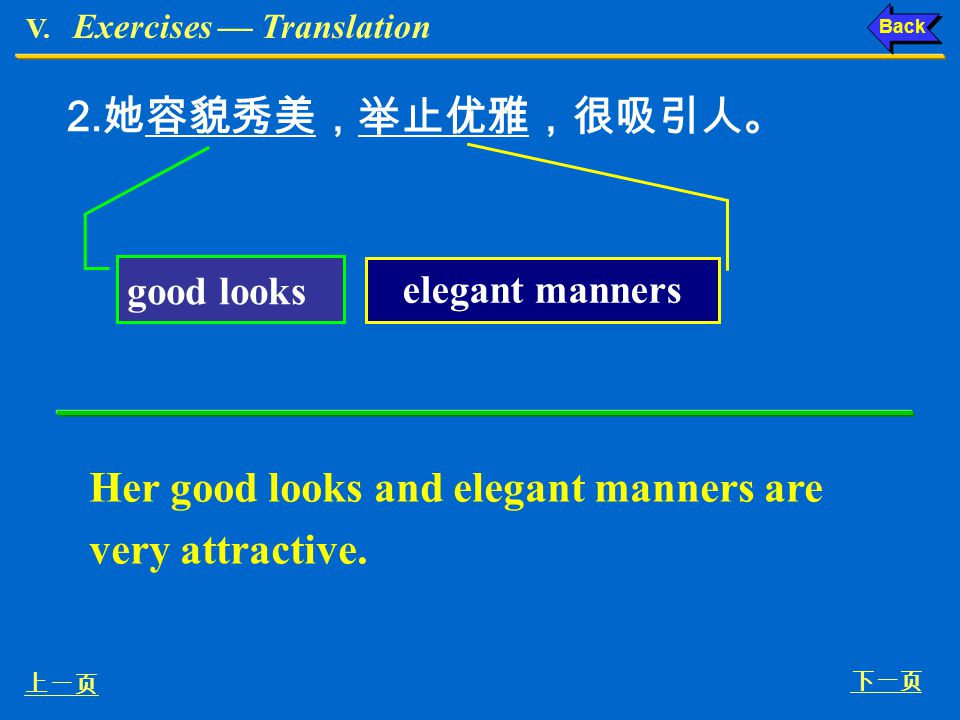 Her good looks and elegant manners are very attractive.