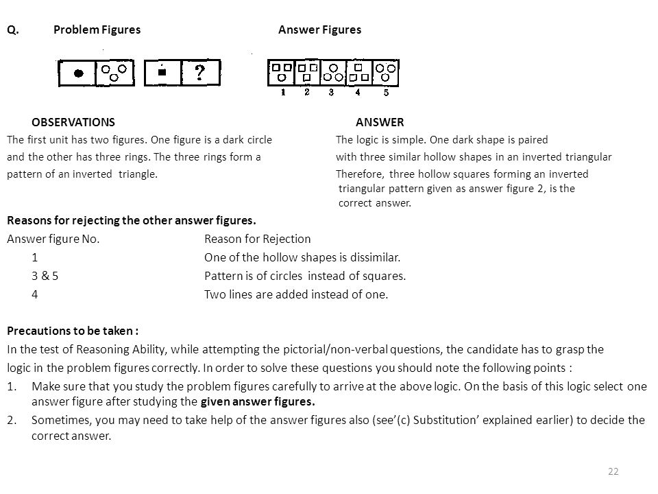 Q. Problem Figures Answer Figures