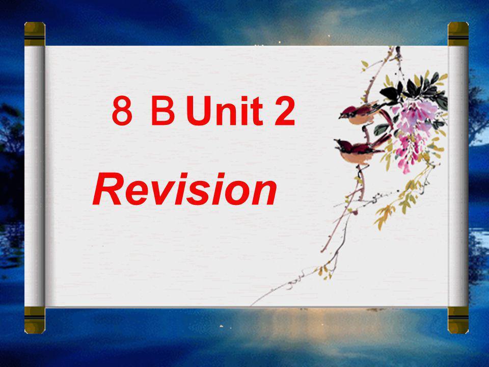 8BUnit 2 Revision