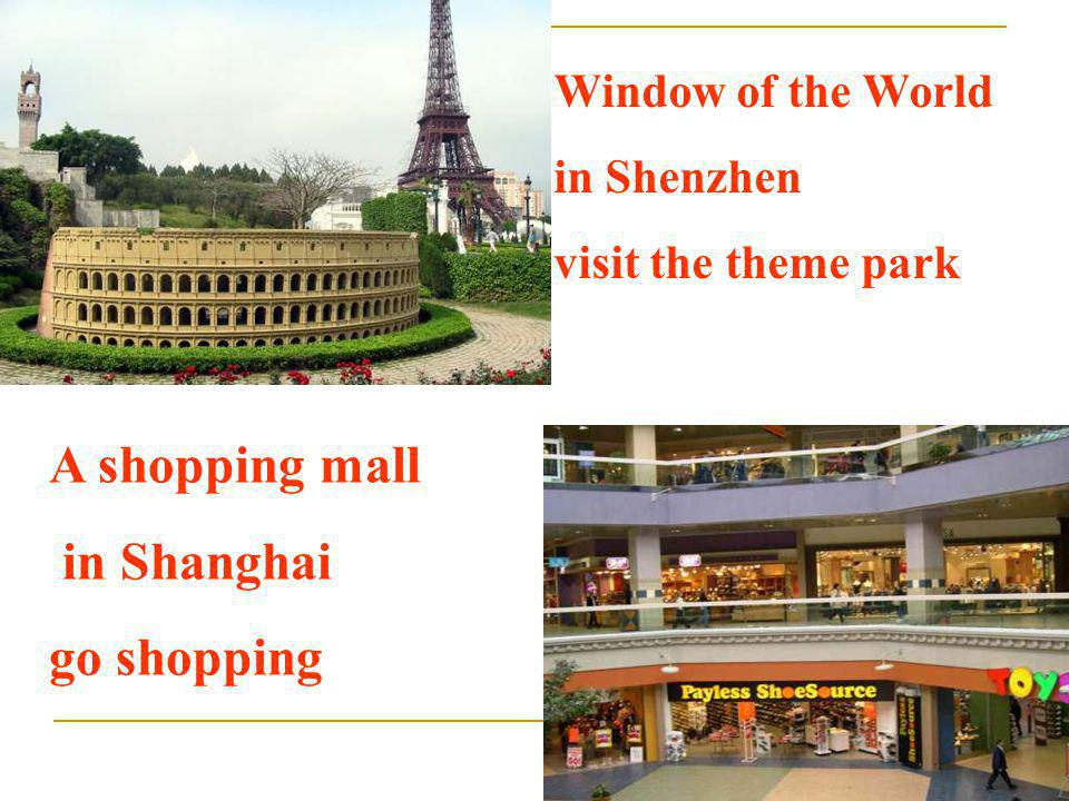 A shopping mall in Shanghai go shopping Window of the World
