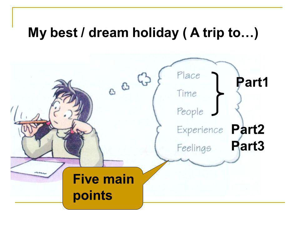 My best / dream holiday ( A trip to…)