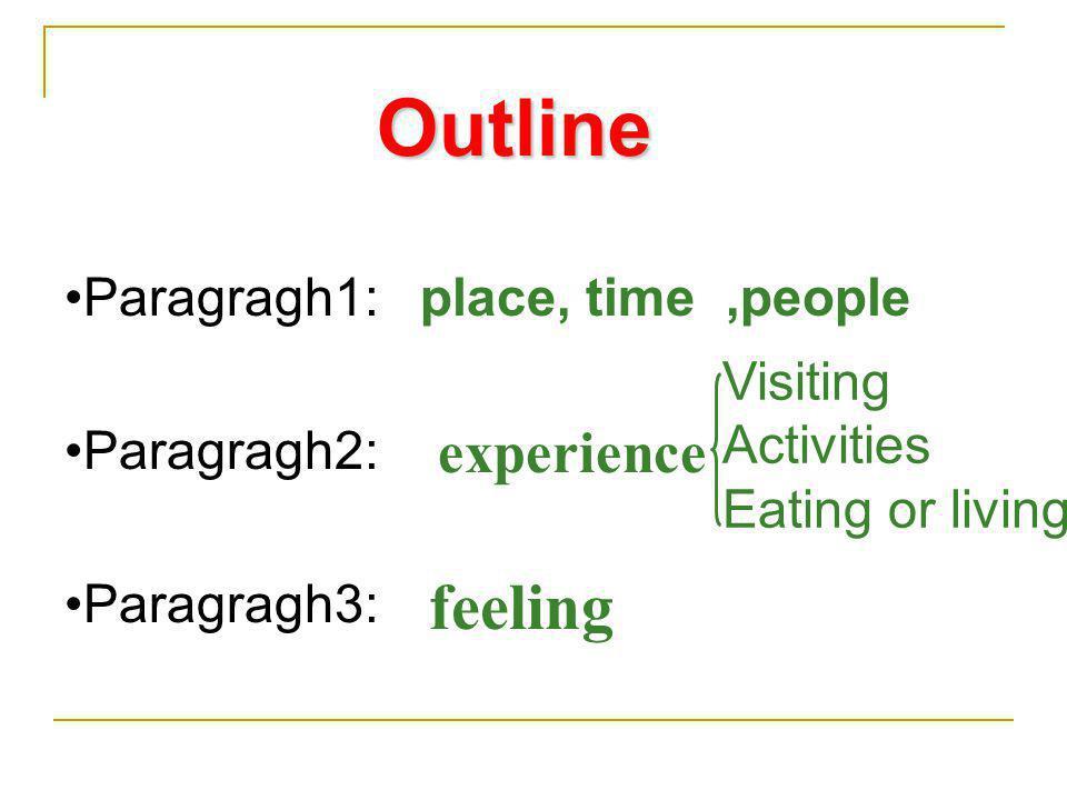 Outline feeling experience Paragragh1: Paragragh2: Paragragh3: