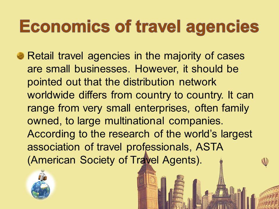 Economics of travel agencies