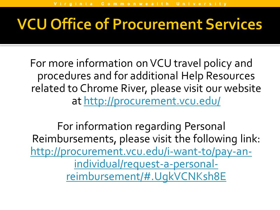 VCU Office of Procurement Services