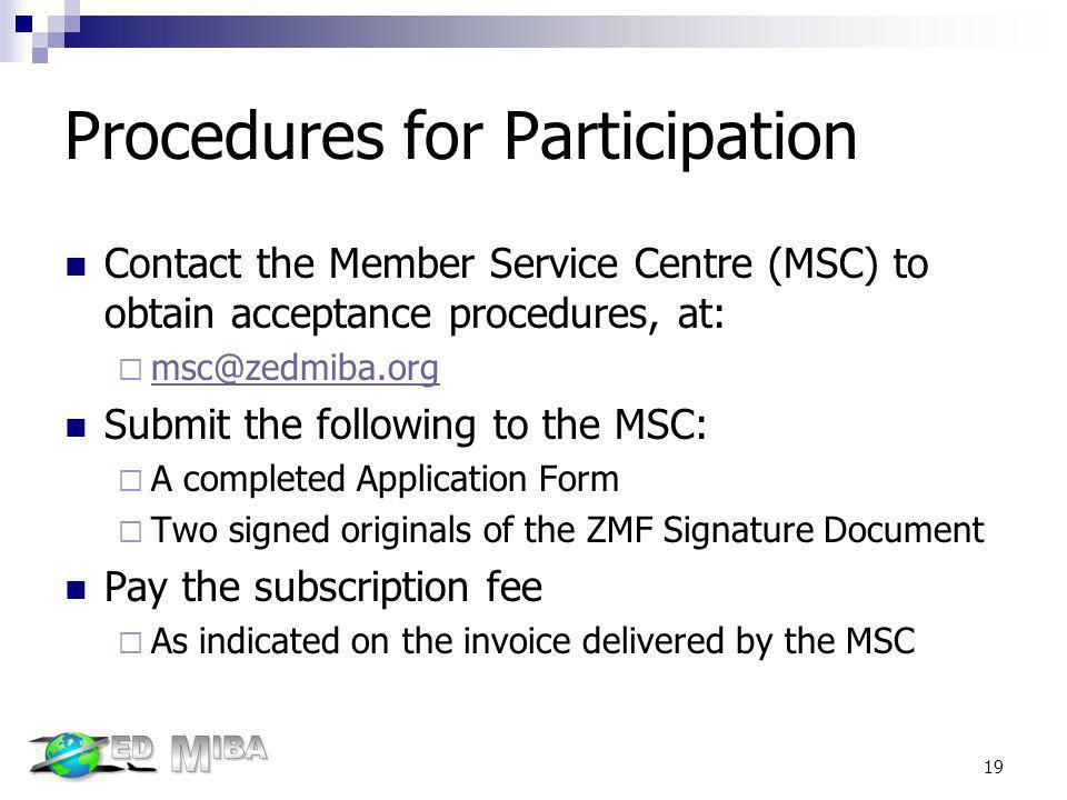 Procedures for Participation