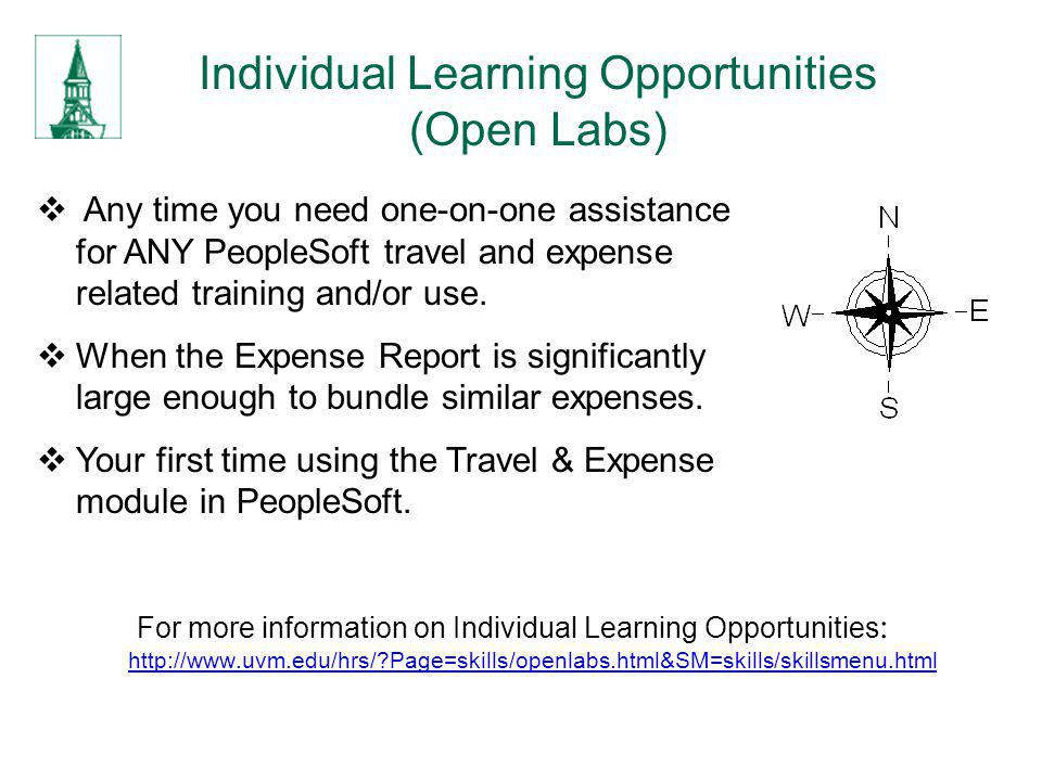 Individual Learning Opportunities (Open Labs)