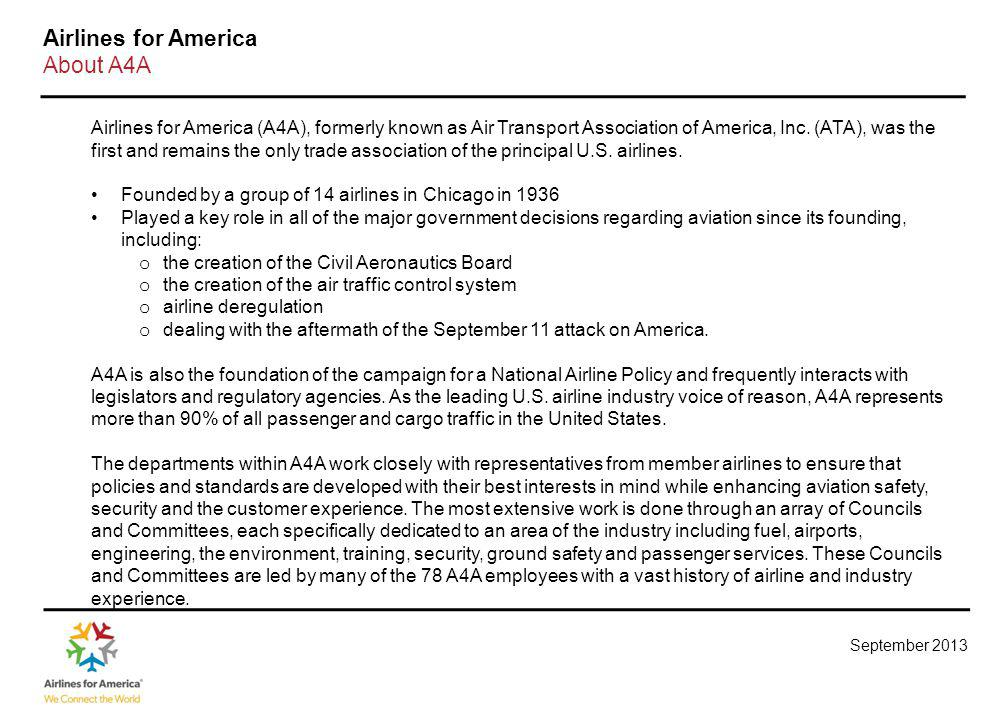 Airlines for America Mission