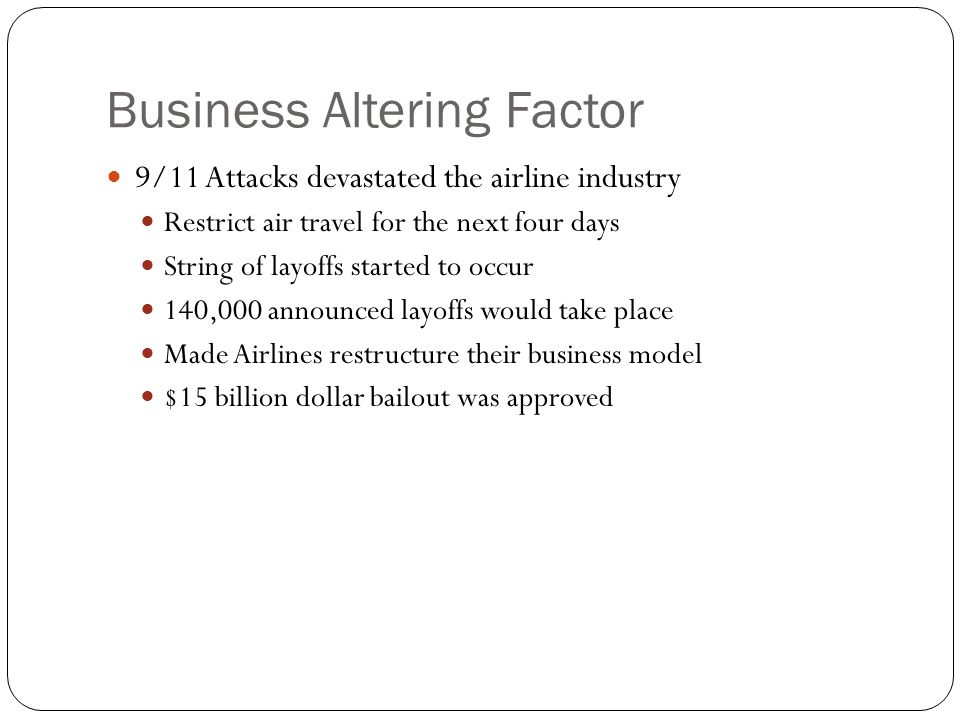 Business Altering Factor