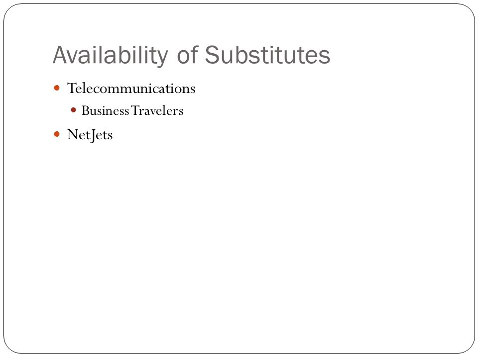 Availability of Substitutes