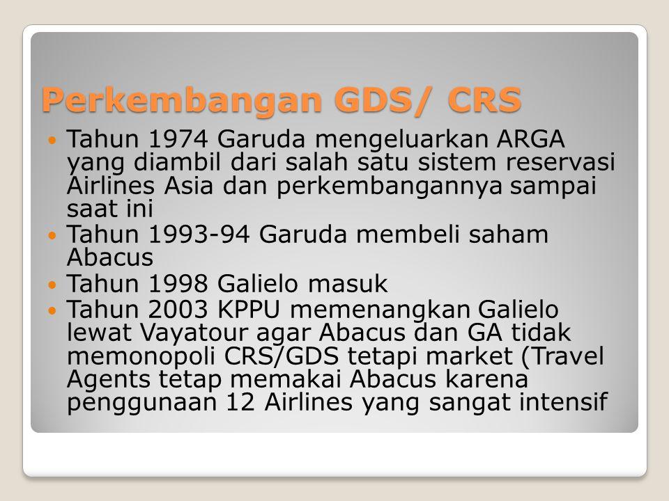 Perkembangan GDS/ CRS